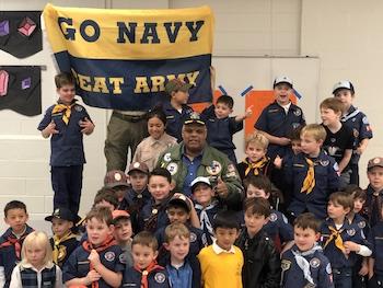 Navy League Volunteer With Children